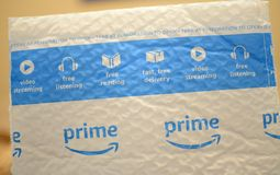 Amazon Prime Fast Ship Bubble Mailer stock image