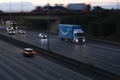 Amazon Prime Lorry Stock Photos