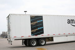 Amazon Prime Shipping Truck royalty free stock photos
