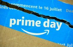 Amazon Prime-Tageskasten lizenzfreies stockfoto