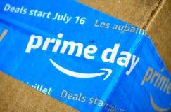 Amazon Prime-Tageskasten lizenzfreie stockfotos