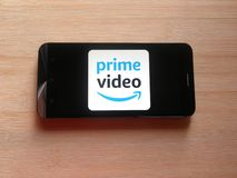 Amazon Prime wideo app fotografia stock