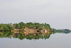 Amazon rainforest: Landscape along the shore of Amazon River near Manaus, Brazil South America Royalty Free Stock Photos