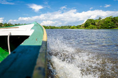Amazon River. Boat riding at the Amazon River Stock Image
