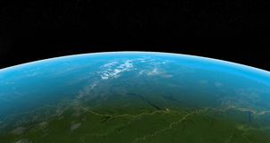 Amazon river in earth planet from space outer stock video footage
