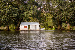 Amazon river jungle house boat Royalty Free Stock Images