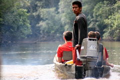 Amazon River Ride Royalty Free Stock Photos