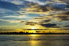 Amazon River Sunset Stock Images
