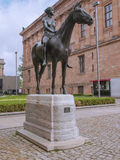 Amazon statue. Amazone zu Pferde statue (meaning Amazon on horseback) designed by German sculptur Louis Tuaillon in 1890 Royalty Free Stock Images