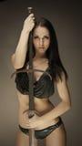Amazon with sword Stock Photo