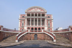 Amazon Theater facade in Manaus Royalty Free Stock Image
