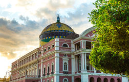 Amazon Theater in Manaus, Brazil Royalty Free Stock Photography