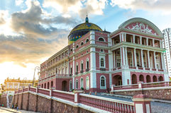 Amazon Theater in Manaus, Brazil Royalty Free Stock Image
