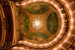Amazon Theatre Ceiling Manaus Brazil Stock Photos