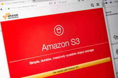 Amazon Web Services homepage Royalty Free Stock Photography