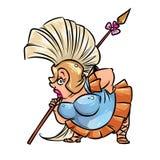 Amazon woman warrior cartoon illustration Stock Images
