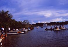 Amazonas河:Paritins海滩  库存图片