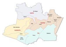 Amazonas administracyjna i polityczna wektorowa mapa Fotografia Stock