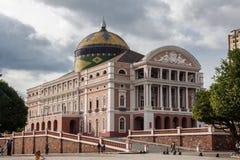 amazonas Brazil Manaus theatre zdjęcia stock