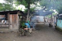 Amazonas-Dorf Lizenzfreie Stockfotos