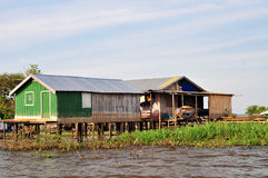 Amazonas-Dschungel-typisches Haus Stockfoto
