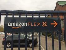 Amazonas-Flexsignage stockbild