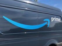 Amazonas-Lieferwagen stockfotografie