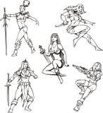 Amazonas-Mädchen Stockbilder