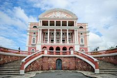 Amazonas Theater. The Amazon Theatre is an opera house located in Manaus, in the heart of the Amazon rainforest in Brazil Stock Images