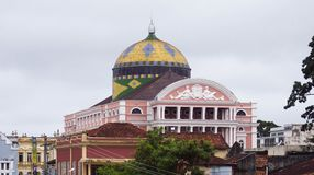 Amazonas Theater. View of Amazonas Theater in Manaus, Brazil royalty free stock photo