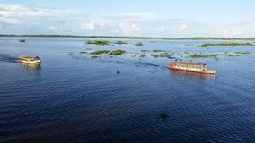 Amazonasrivier van Iquitos-stad Stock Afbeeldingen