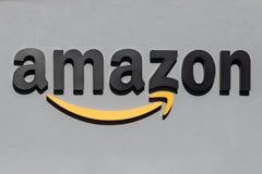 Free Amazonbooks Signage Against A Grey Background Royalty Free Stock Images - 139494839