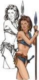 Amazone 18. illustration de vecteur