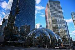 Amazonek sfery w w centrum Seattle fotografia royalty free