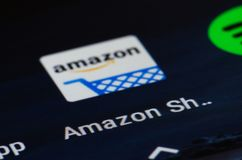 Amazonië app royalty-vrije stock afbeelding