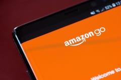 Amazonië gaat app menu royalty-vrije stock afbeeldingen