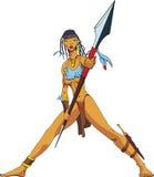 Amazonië met spear Royalty-vrije Stock Afbeelding