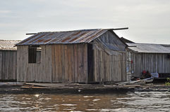 Amazonian Floating House Stock Images