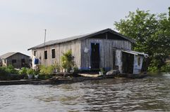 Amazonian Floating House Royalty Free Stock Photos