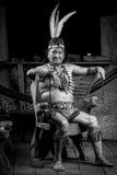 Amazonian Shaman Portrait Stock Photography