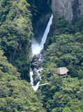 Amazonian waterfall in the Andes. Banos. Ecuador Stock Photo