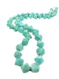 Amazonit green beads Royalty Free Stock Photos