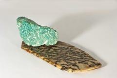 Amazonit y un granito Foto de archivo