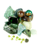 Amazonite和宝石收集。 免版税库存图片