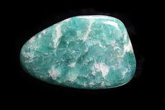 Amazonite on black Royalty Free Stock Images