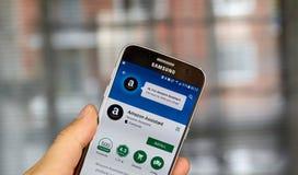 Amazonka app na Samsung S7 Obrazy Stock