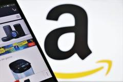 Amazonka gatunku logo i imię fotografia stock