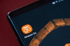 Amazonka iść app ikona zdjęcia royalty free
