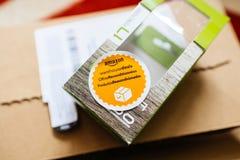 Amazonka magazyn Rozdaje offres reconditionnees productos reacondi Fotografia Stock