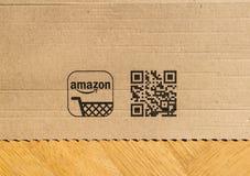 Amazonka Pierwszorzędny karton widzieć od above podłoga domu zdjęcie royalty free